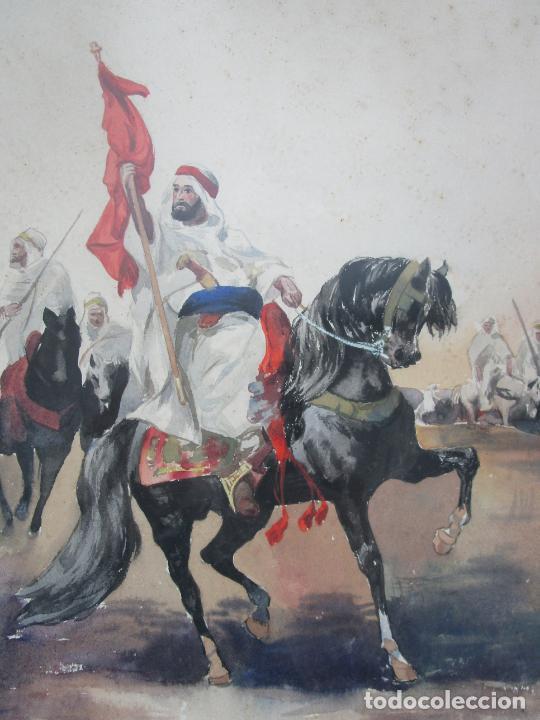 Arte: Josep Tapiró y Baró (Reus 1836 - Tánger 1913) - Acuarela Tánger 1913 - Foto 6 - 224958332