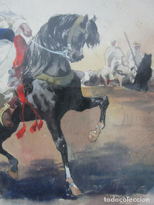 Arte: Josep Tapiró y Baró (Reus 1836 - Tánger 1913) - Acuarela Tánger 1913 - Foto 7 - 224958332