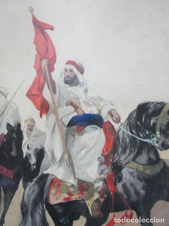 Arte: Josep Tapiró y Baró (Reus 1836 - Tánger 1913) - Acuarela Tánger 1913 - Foto 8 - 224958332