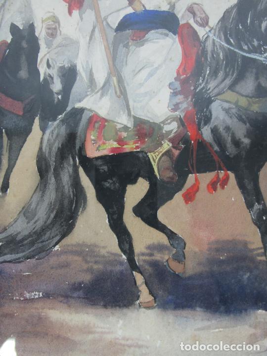 Arte: Josep Tapiró y Baró (Reus 1836 - Tánger 1913) - Acuarela Tánger 1913 - Foto 9 - 224958332
