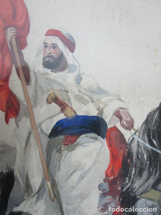 Arte: Josep Tapiró y Baró (Reus 1836 - Tánger 1913) - Acuarela Tánger 1913 - Foto 10 - 224958332