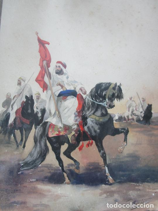 Arte: Josep Tapiró y Baró (Reus 1836 - Tánger 1913) - Acuarela Tánger 1913 - Foto 12 - 224958332