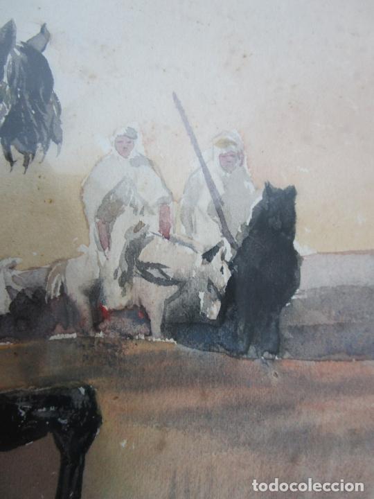 Arte: Josep Tapiró y Baró (Reus 1836 - Tánger 1913) - Acuarela Tánger 1913 - Foto 14 - 224958332