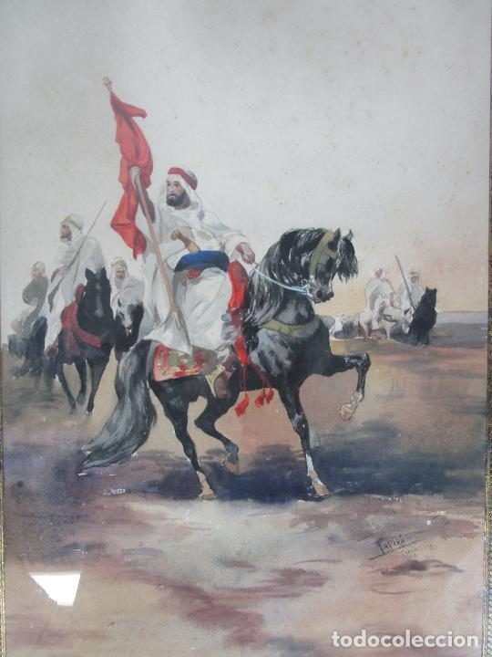 Arte: Josep Tapiró y Baró (Reus 1836 - Tánger 1913) - Acuarela Tánger 1913 - Foto 15 - 224958332
