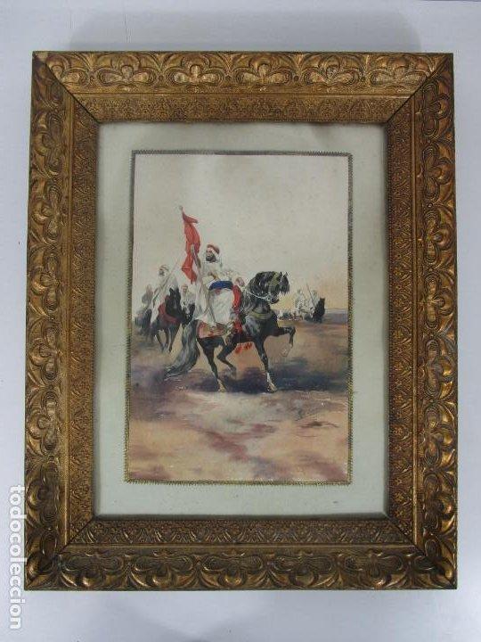 Arte: Josep Tapiró y Baró (Reus 1836 - Tánger 1913) - Acuarela Tánger 1913 - Foto 17 - 224958332