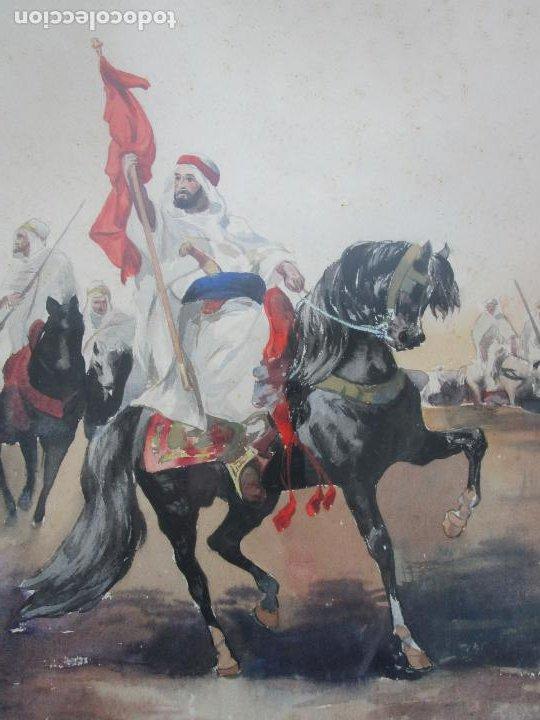 Arte: Josep Tapiró y Baró (Reus 1836 - Tánger 1913) - Acuarela Tánger 1913 - Foto 21 - 224958332