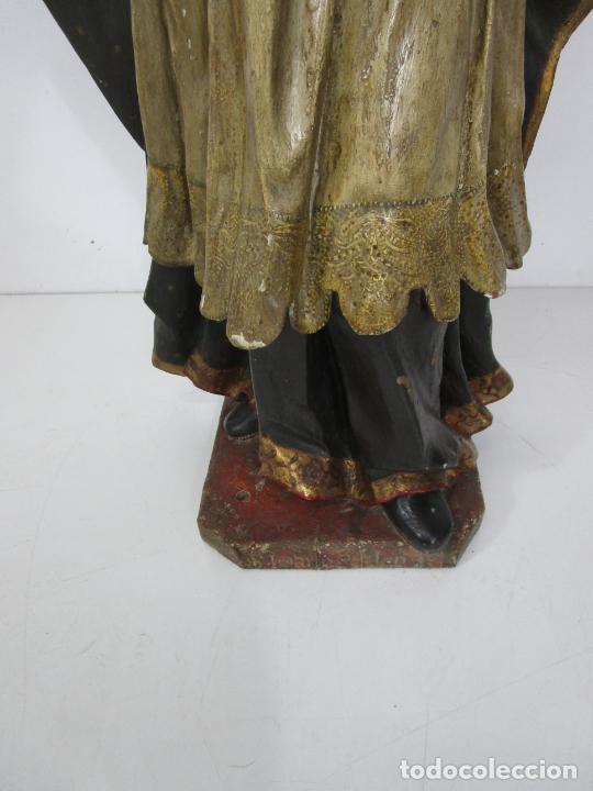 Arte: San Juan Nepomucero - Talla de Madera Policromada - Altura 126 cm - S. XVII-XVIII - Foto 2 - 225003015