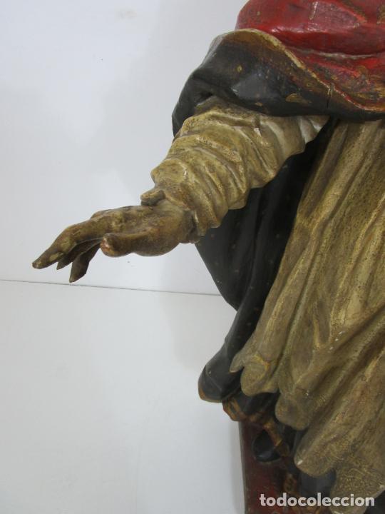 Arte: San Juan Nepomucero - Talla de Madera Policromada - Altura 126 cm - S. XVII-XVIII - Foto 11 - 225003015