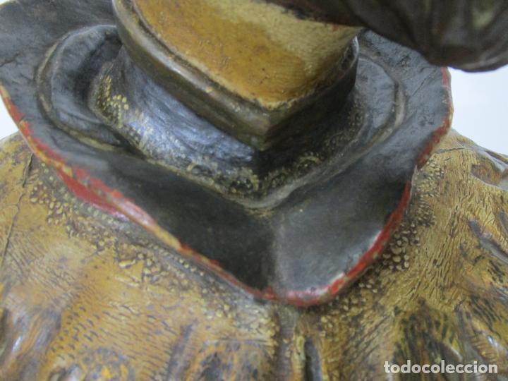 Arte: San Juan Nepomucero - Talla de Madera Policromada - Altura 126 cm - S. XVII-XVIII - Foto 14 - 225003015