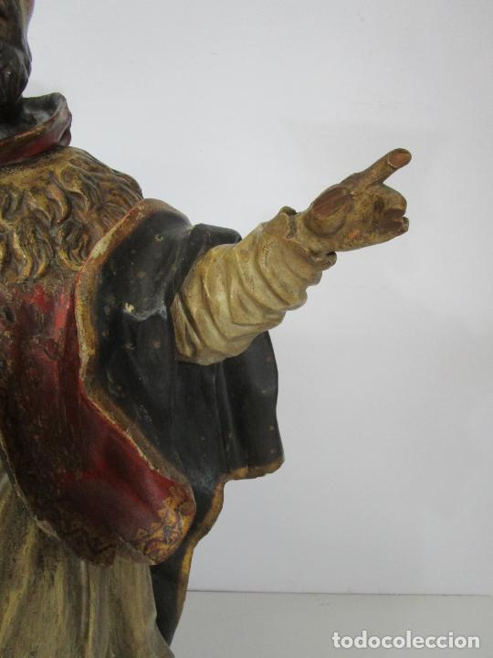 Arte: San Juan Nepomucero - Talla de Madera Policromada - Altura 126 cm - S. XVII-XVIII - Foto 15 - 225003015
