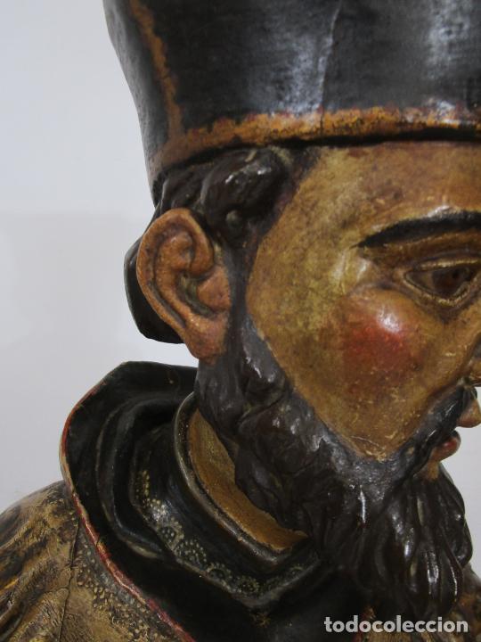 Arte: San Juan Nepomucero - Talla de Madera Policromada - Altura 126 cm - S. XVII-XVIII - Foto 19 - 225003015