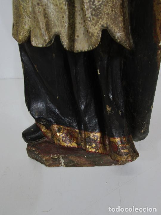 Arte: San Juan Nepomucero - Talla de Madera Policromada - Altura 126 cm - S. XVII-XVIII - Foto 22 - 225003015