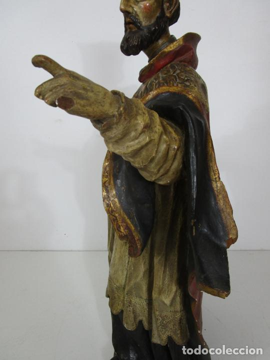 Arte: San Juan Nepomucero - Talla de Madera Policromada - Altura 126 cm - S. XVII-XVIII - Foto 24 - 225003015