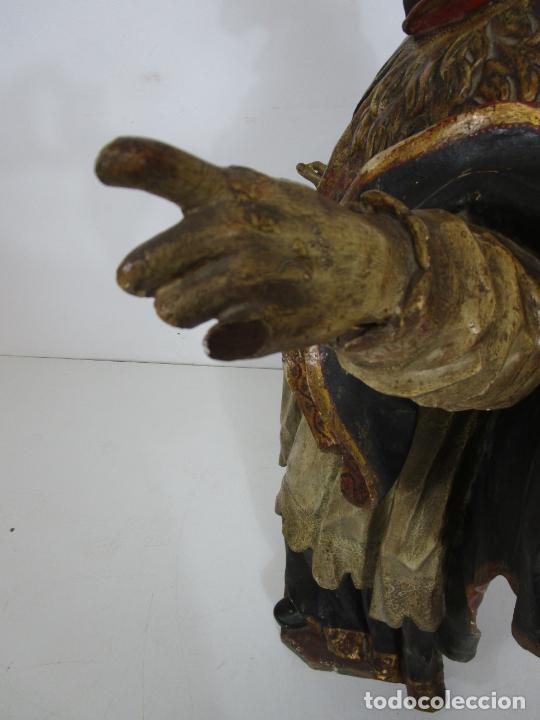Arte: San Juan Nepomucero - Talla de Madera Policromada - Altura 126 cm - S. XVII-XVIII - Foto 25 - 225003015