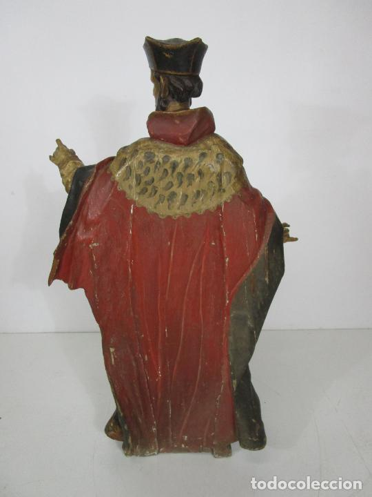 Arte: San Juan Nepomucero - Talla de Madera Policromada - Altura 126 cm - S. XVII-XVIII - Foto 29 - 225003015