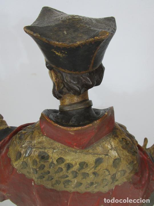 Arte: San Juan Nepomucero - Talla de Madera Policromada - Altura 126 cm - S. XVII-XVIII - Foto 32 - 225003015