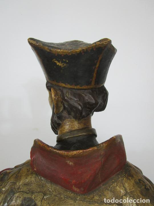 Arte: San Juan Nepomucero - Talla de Madera Policromada - Altura 126 cm - S. XVII-XVIII - Foto 34 - 225003015