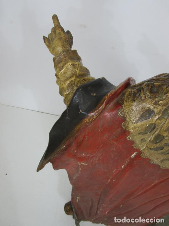 Arte: San Juan Nepomucero - Talla de Madera Policromada - Altura 126 cm - S. XVII-XVIII - Foto 35 - 225003015