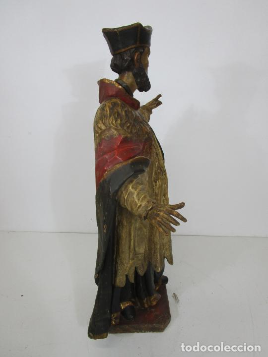 Arte: San Juan Nepomucero - Talla de Madera Policromada - Altura 126 cm - S. XVII-XVIII - Foto 37 - 225003015