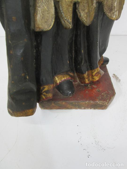 Arte: San Juan Nepomucero - Talla de Madera Policromada - Altura 126 cm - S. XVII-XVIII - Foto 38 - 225003015