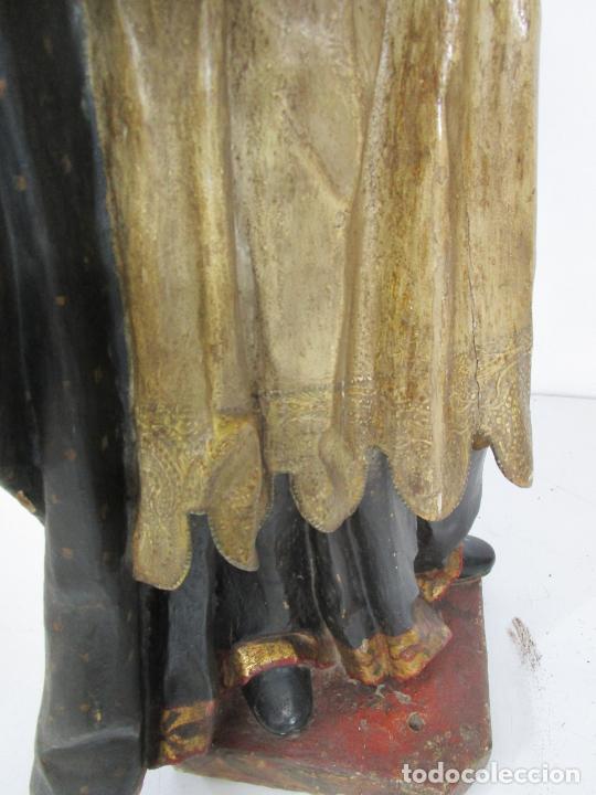 Arte: San Juan Nepomucero - Talla de Madera Policromada - Altura 126 cm - S. XVII-XVIII - Foto 39 - 225003015
