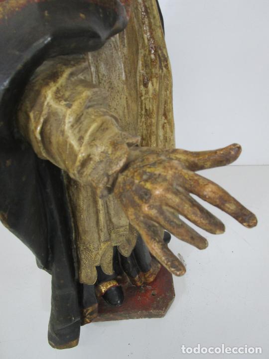 Arte: San Juan Nepomucero - Talla de Madera Policromada - Altura 126 cm - S. XVII-XVIII - Foto 40 - 225003015