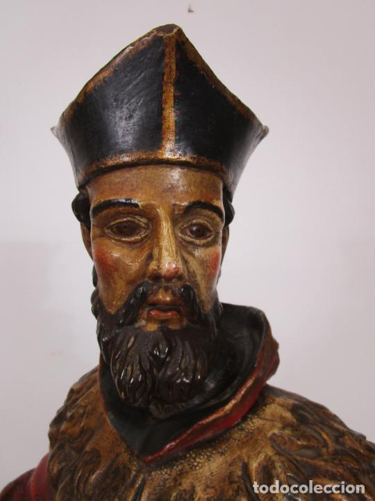 Arte: San Juan Nepomucero - Talla de Madera Policromada - Altura 126 cm - S. XVII-XVIII - Foto 43 - 225003015