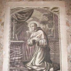 Arte: SIGLO XVIII GRABADO DE SAN BERNARDO BERNARD - RELIGION. Lote 225165552