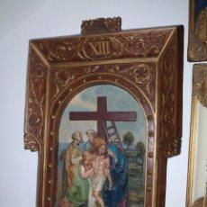 Arte: IMPORTANTE RETABLO DE OLOT, XIII, DESCENDIMIENTO. Lote 225190925