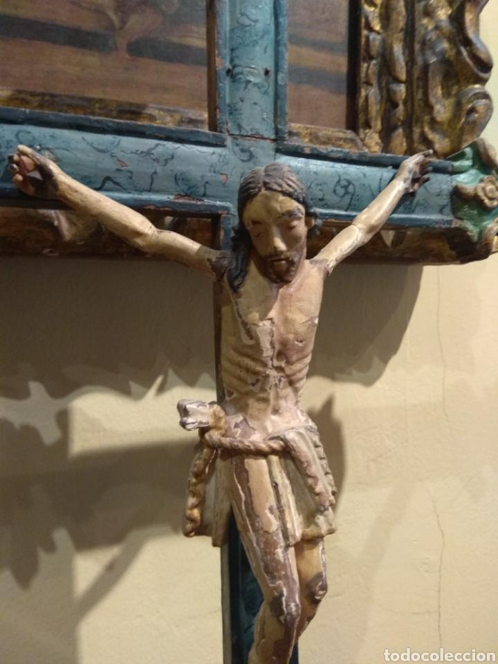 Arte: Escultura de Cristo en la Cruz Madera Policromada XVIII - Foto 16 - 50235814