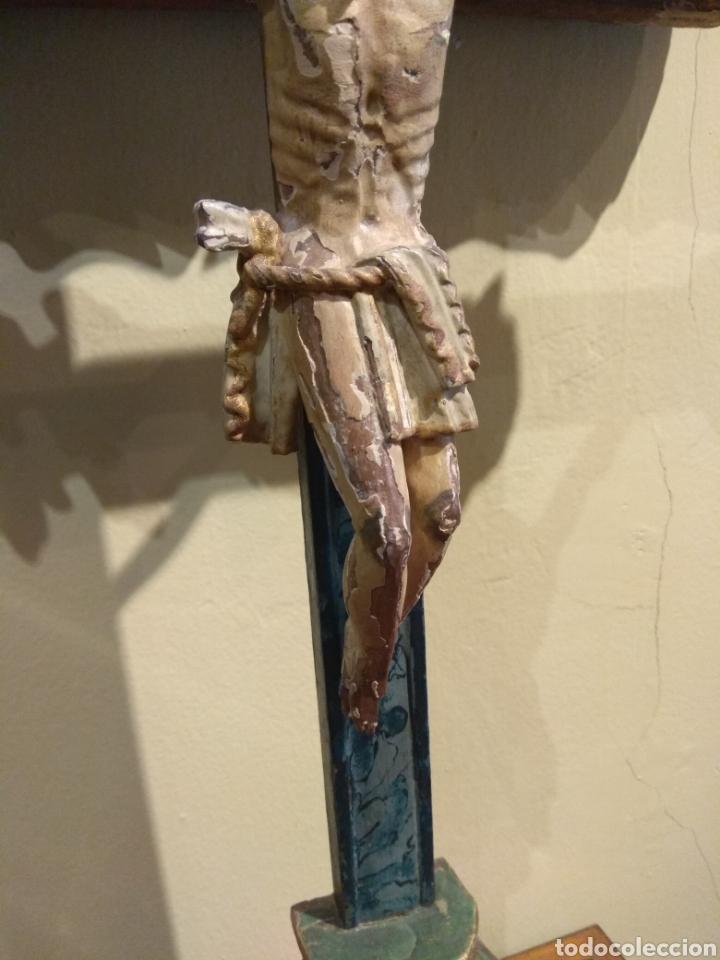Arte: Escultura de Cristo en la Cruz Madera Policromada XVIII - Foto 17 - 50235814