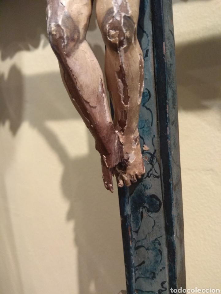 Arte: Escultura de Cristo en la Cruz Madera Policromada XVIII - Foto 18 - 50235814