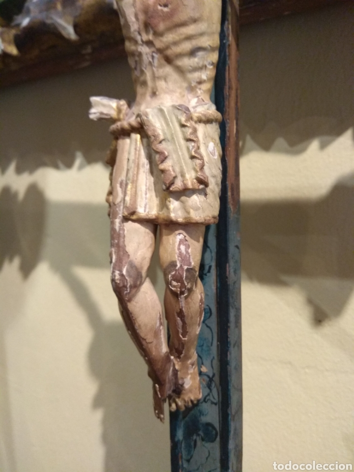 Arte: Escultura de Cristo en la Cruz Madera Policromada XVIII - Foto 19 - 50235814