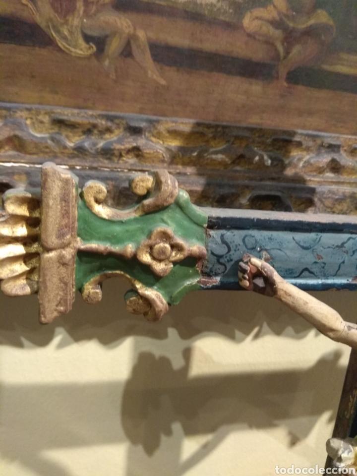 Arte: Escultura de Cristo en la Cruz Madera Policromada XVIII - Foto 21 - 50235814