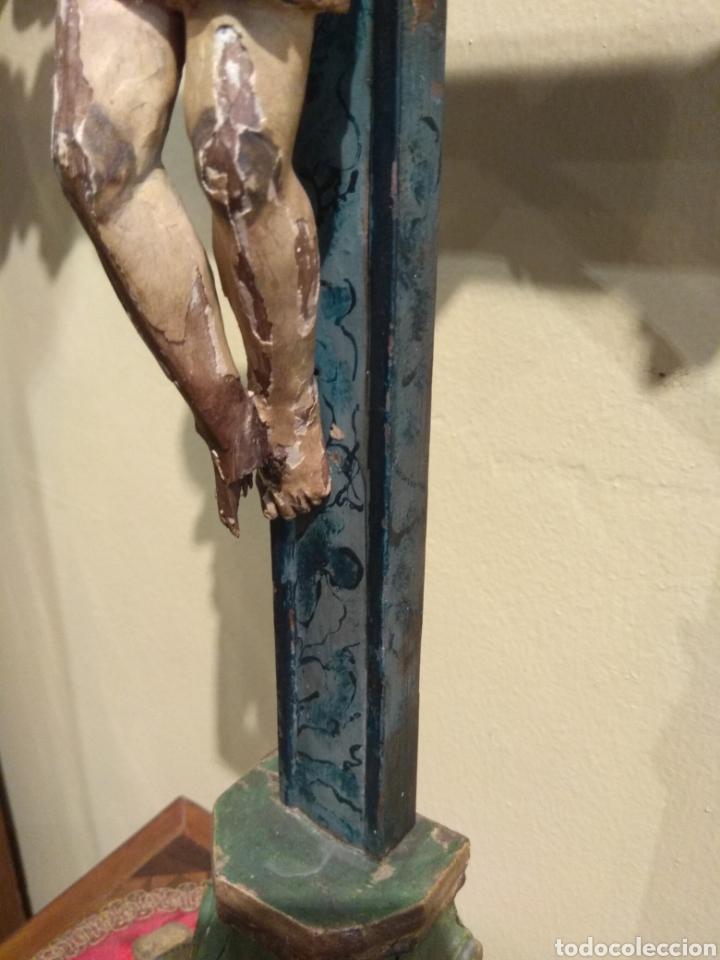 Arte: Escultura de Cristo en la Cruz Madera Policromada XVIII - Foto 25 - 50235814