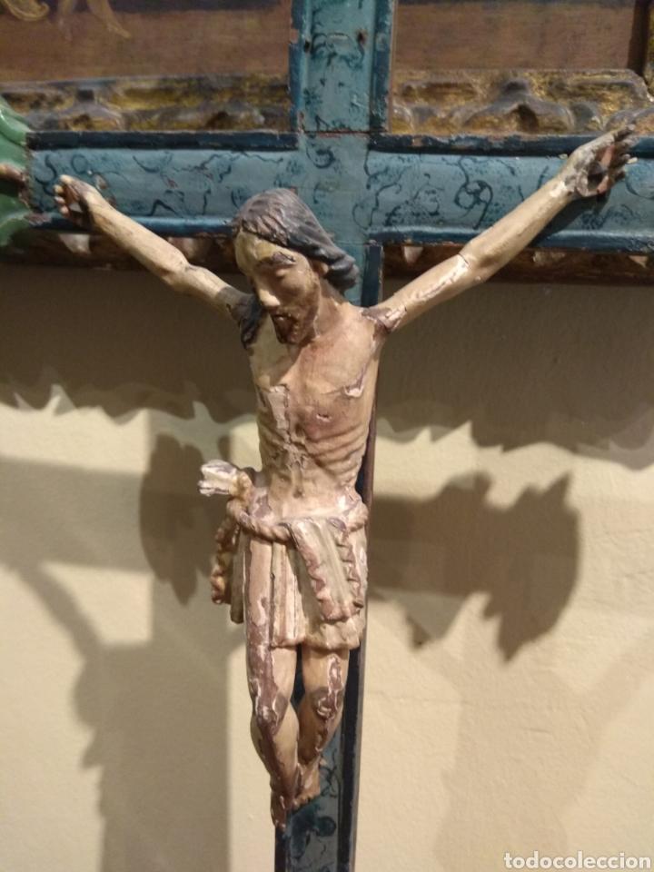 Arte: Escultura de Cristo en la Cruz Madera Policromada XVIII - Foto 26 - 50235814