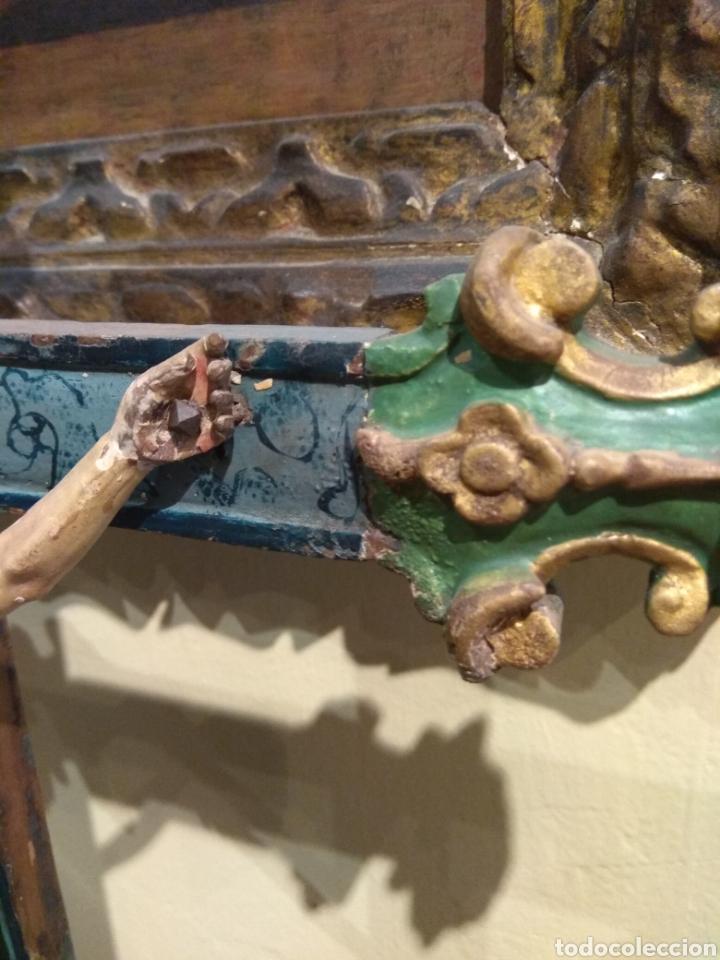 Arte: Escultura de Cristo en la Cruz Madera Policromada XVIII - Foto 27 - 50235814