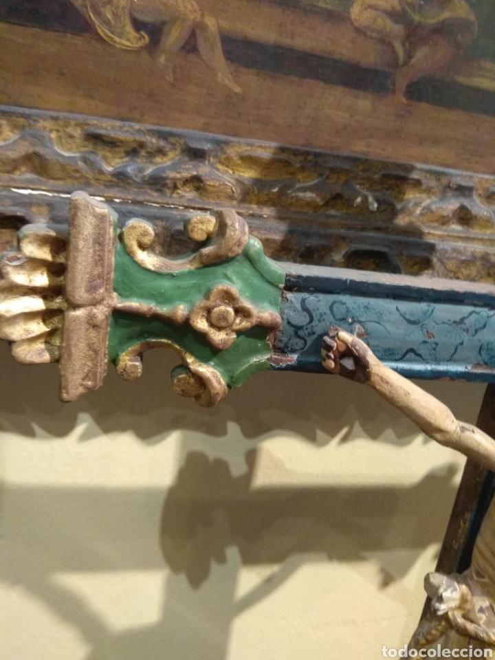 Arte: Escultura de Cristo en la Cruz Madera Policromada XVIII - Foto 29 - 50235814