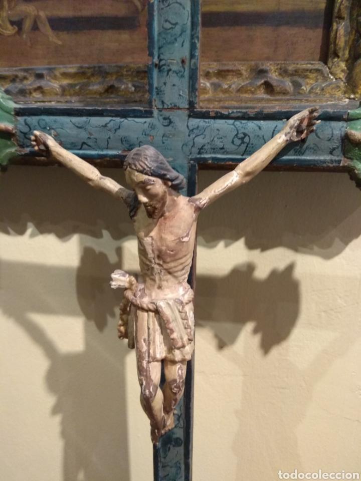 Arte: Escultura de Cristo en la Cruz Madera Policromada XVIII - Foto 30 - 50235814