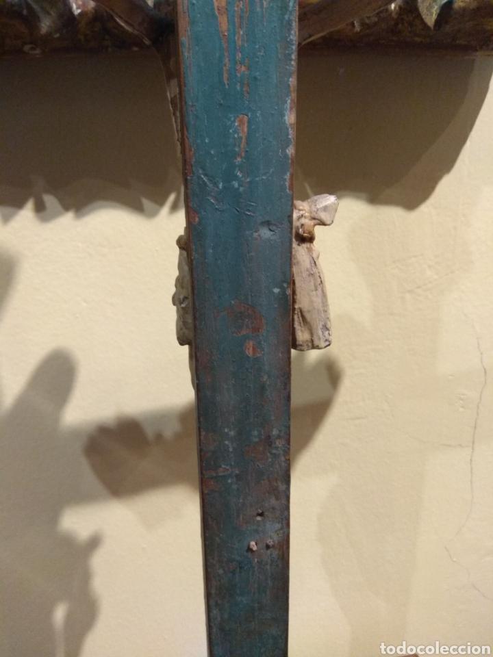 Arte: Escultura de Cristo en la Cruz Madera Policromada XVIII - Foto 35 - 50235814