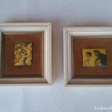Arte: LOTE DE 2 CUADRITOS IMAGENES RELIGIOSAS.. Lote 225371095
