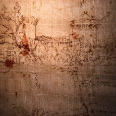 Arte: CÍRCULO CLAUDE LORRAIN DIBUJO ORIGINAL LÁPIZ Y TINTA SEPIA ROMA JARDINES DEL VATICANO S XVII O XVIII. Lote 225530470