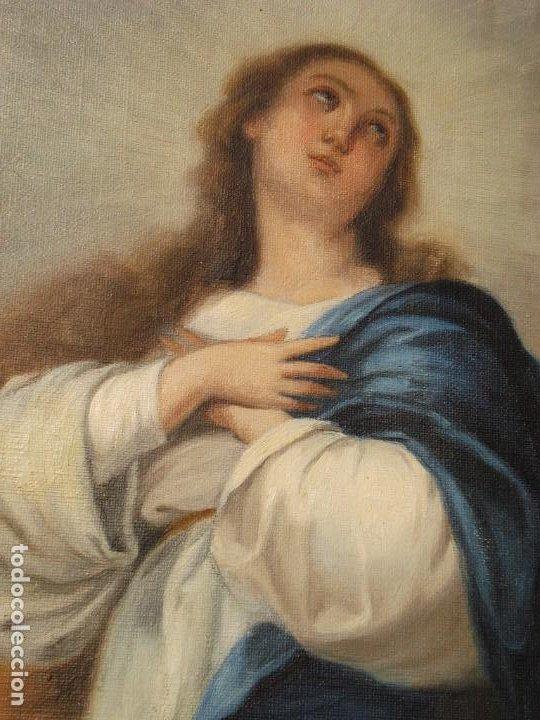 INMACULADA DE ARANJUEZ MURILLO COPIA SOBRE TELA SXX GRANDES MEDIDAS (Arte - Arte Religioso - Pintura Religiosa - Oleo)