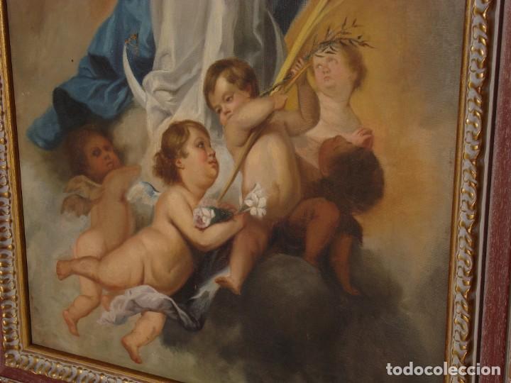Arte: INMACULADA DE ARANJUEZ MURILLO COPIA SOBRE TELA SXX GRANDES MEDIDAS - Foto 4 - 225718523