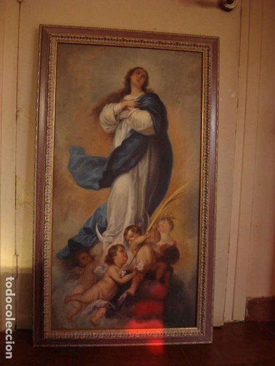 Arte: INMACULADA DE ARANJUEZ MURILLO COPIA SOBRE TELA SXX GRANDES MEDIDAS - Foto 10 - 225718523