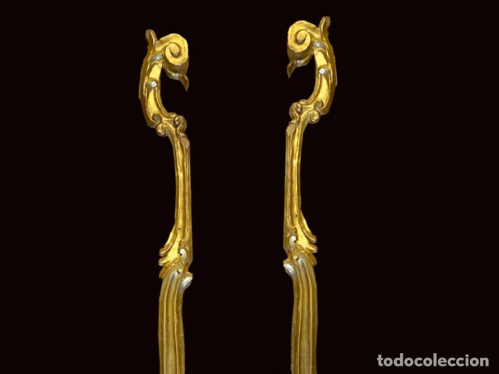 Arte: Maravillosos fragmentos de retablo al oro fino, siglo XVIII - Foto 2 - 225827946