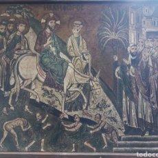 Arte: RETABLO RELIGIOSO MOSAICO ENTRADA DE CRISTO A JERUSALÉN S.XII CAPILLA PALATINA PALERMO. Lote 226051305