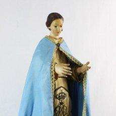 Arte: VIRGEN DE VESTIR CAP I POTA MADERA TALLADA CA 1880. A DRESSING VIRGIN. CARVING WOOD. Lote 226236265