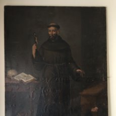 Arte: ÓLEO ANTIGUO SOBRE LIENZO - PINTURA ANTIGUA RELIGIOSA SIGLO XVII - SAN FRANCISCO - GRAN TAMAÑO. Lote 226253397
