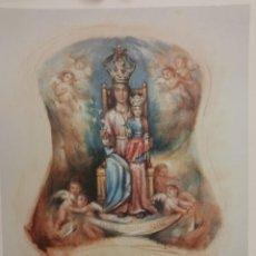 Arte: LITOGRAFIA ORIGINAL FORNER VIRGEN MISERICORDIA BURRIANA. Lote 226308800
